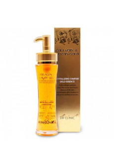 Эссенция для лица жидкий коллаген с золотом 3W CLINIC Collagen & Luxury Gold Revitalizing, 150 мл.