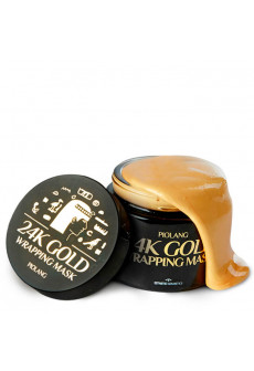 Маска для лица с 24 каратным золотом ESTHETIC HOUSE Piolang 24K Gold Wrapping mask, 80 мл.